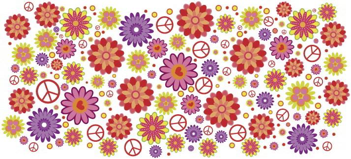 Arte para caneca: Flores coloridas - Flores
