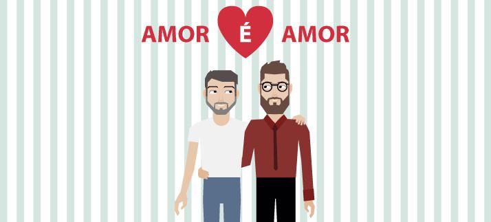 Arte para caneca: Amor é amor - Namorados