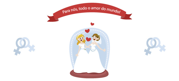 Arte para caneca: Para nós, todo o amor do mundo! - Casamento