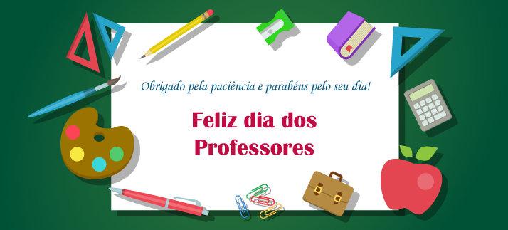Arte para caneca: Feliz dia dos professores, Obrigado pela paciência e parabéns pelo seu dia! - Dia dos Professores