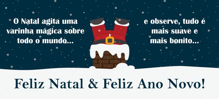 Arte para caneca: O Natal agita uma varinha mágica sobre todo o mundo... e observe, tudo é mais suave e mais bonito... Feliz Natal & Feliz Ano Novo!