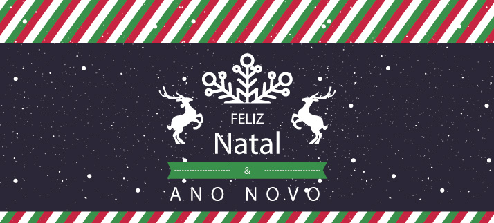 Arte para caneca: Feliz Natal e Ano Novo