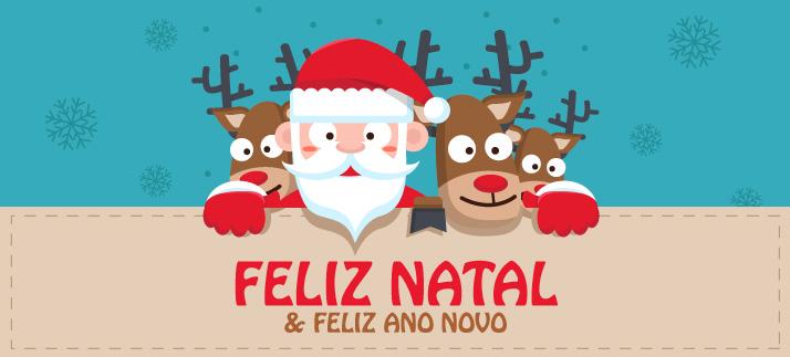 Arte para caneca: Feliz Natal e Feliz Ano Novo - Natal