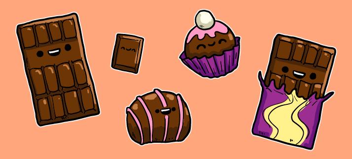 Arte para caneca: Páscoa, Chocolates