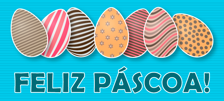 Arte para caneca: Feliz páscoa!