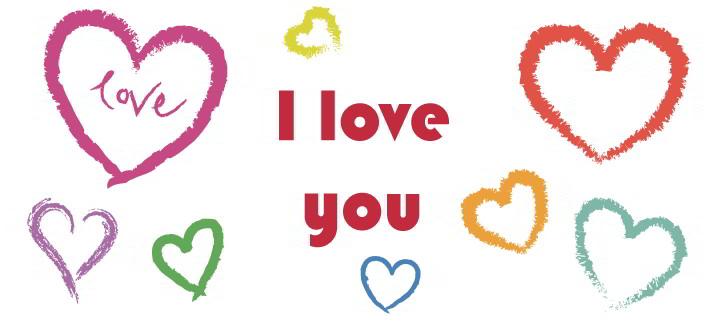 Arte para caneca: I love you - Amor
